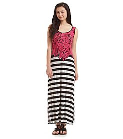 Kensie® Bananas And Stripes Maxi Dress
