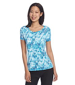 Exertek® Petites' Crew Neck Short Sleeve Shirt