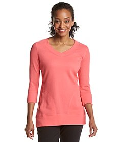 Exertek® Petites' V-Neck 3/4 Quarter Sleeve Tunic