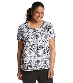 Exertek® Plus Size Crew Neck Short Sleeve Shirt