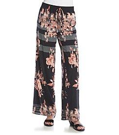 Joan Vass® Floral Palazzo Pants