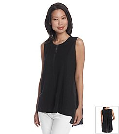 Joan Vass® Pleatback Tank