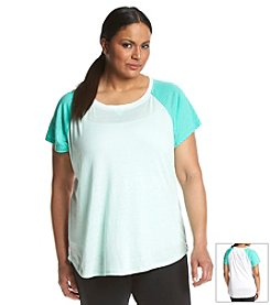 Calvin Klein Performance Plus Size Baseball Tee