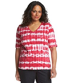 Jones New York Sport® Plus Size Tie Dye V-Neck