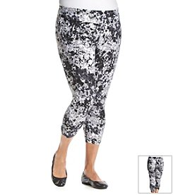 Calvin Klein Performance Plus Size Printed Fitness Cropped Pants