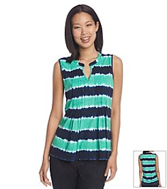 Jones New York Sport® Pleated Tie Dye Tank