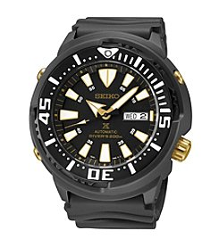 Seiko® Men's Prospex Black Ion Finish Automatic Divers Watch
