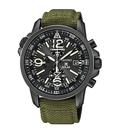 Seiko® Men's Prospex Nylon Strap Alarm Chronograph Watch