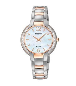 Seiko® Women's Two-Tone Diamond Accent Solar Watch