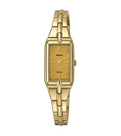 Seiko® Women's Goldtone Solar Dress Watch