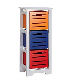RiverRidge® Kids Cool Colors Collection 3-Bin Storage Cabinet