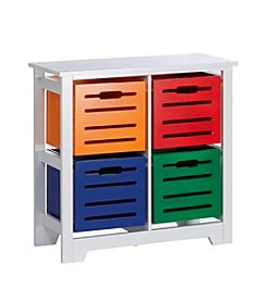 RiverRidge® Kids Cool Colors Collection 4-Bin Storage Cabinet