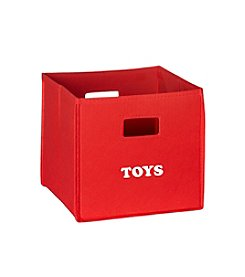 RiverRidge® Kids Red Folding Storage Bin with Print