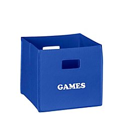 RiverRidge® Kids Blue Folding Storage Bin with Print