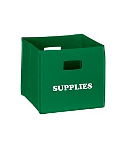 RiverRidge® Kids Green Folding Storage Bin with Print
