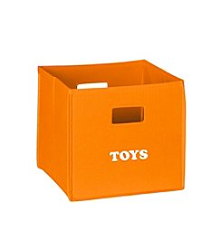 RiverRidge® Kids Orange Folding Storage Bin with Print