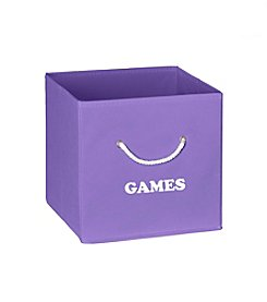 RiverRidge® Kids Purple Folding Storage Bin with Print
