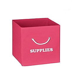 RiverRidge® Kids Hot Pink Folding Storage Bin with Print