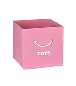 RiverRidge® Kids Pink Folding Storage Bin with Print