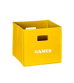 RiverRidge® Kids Yellow Folding Storage Bin with Print