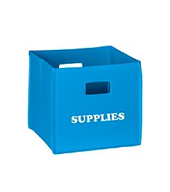 RiverRidge® Kids Sky Blue Folding Storage Bin with Print