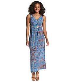 NY Collection Petites' Beaded Empire Maxi Dress