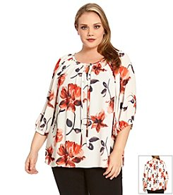 Karen Kane® Plus Size Floral Peasant Top