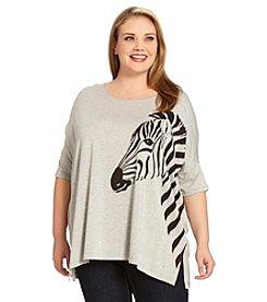 Karen Kane® Plus Size Zebra Drape Top