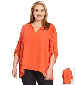 Karen Kane® Plus Size Asymmetrical Hem Top