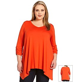 Karen Kane® Plus Size Ruched Sleeve Top