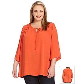 Karen Kane® Plus Size Side Slit Tunic