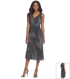 Kasper® Striped Surplice Dress