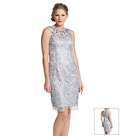 Adrianna Papell® Jeweled Lace Dress