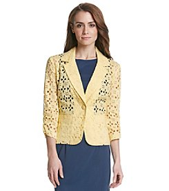 Madison Leigh Eyelet Blazer