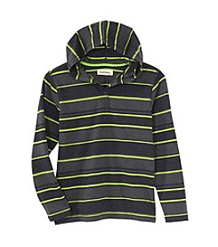 Ruff Hewn Boys 8-18 Long Sleeve Striped Hooded Tee