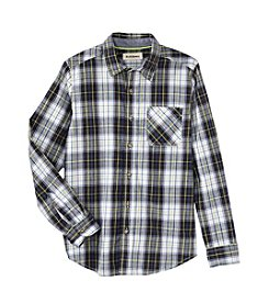 Ruff Hewn Boys' 8-20 Long Sleeve Single Pocket Poplin Shirt