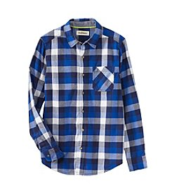 Ruff Hewn Boys 8-20 Long Sleeve Single Pocket Poplin Shirt