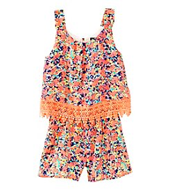 Sequin Hearts® Girls' 7-16 Floral Print Popover Romper