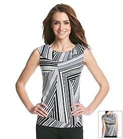 Rafaella® Shaded Zebra Top