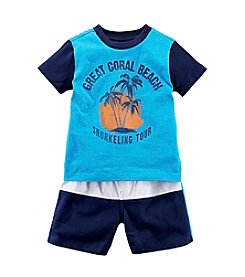 Chaps® Baby Boys' 2-Piece Knit Short Outfit Set