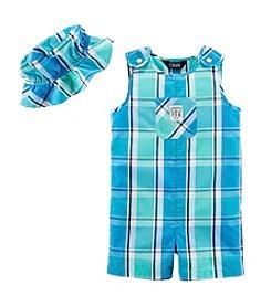 Chaps® Baby Boys' Woven Shortall Set