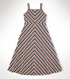 Ralph Lauren Childrenswear Girls' 7-16 Striped Sleeveless Dress