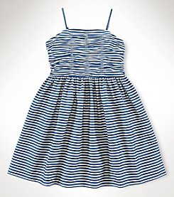 Ralph Lauren Childrenswear Girls' 7-16 Fit And Flare Dress