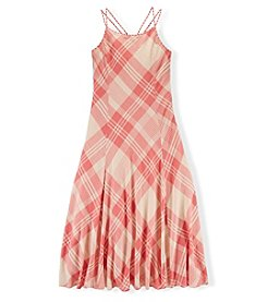 Ralph Lauren Childrenswear Girls' 7-16 Plaid Maxi Dress