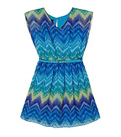 Amy Byer Girls' 7-16 Fit And Flare Dress