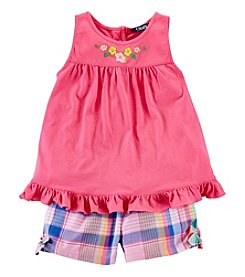 Chaps® Girls' 2T-6X 2-Piece Plaid Shorts Outfit Set