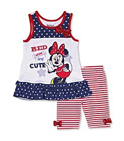 Nannette® Girls' 2T-6X Minnie Biker Shorts Set