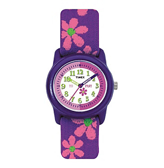 Timex T89022 Kids Time Teacher Flowers Stretch Band Watch