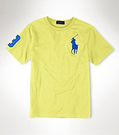 Ralph Lauren Childrenswear Boys' 2T-20 Short Sleeve Logo Tee