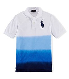 Ralph Lauren Childrenswear Boys' 2T-20 Short Sleeve Dip Dye Polo